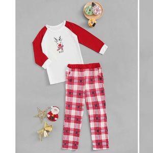 Shein Boy Reindeer Pajamas